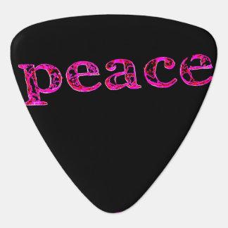 黒のピンクの平和 ギターピック