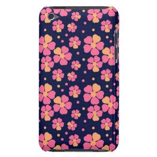 黒のピンクの花 Case-Mate iPod TOUCH ケース