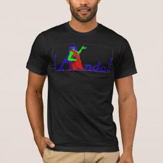 黒のフラメンコの人の合われたティー! Tシャツ