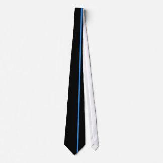 黒のブルーdeフランスの薄い垂直線 カスタムネクタイ