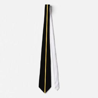黒のマスタードによって集中させる薄い垂直線 カスタムネクタイ