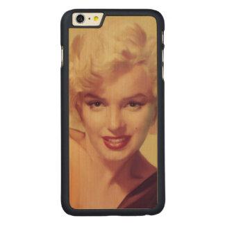 黒のマリリン CarvedメープルiPhone 6 PLUS スリムケース