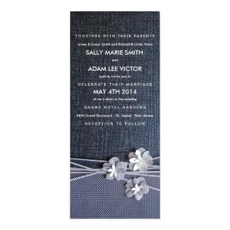 黒のモダンでシックなペーパー花の招待状 カード