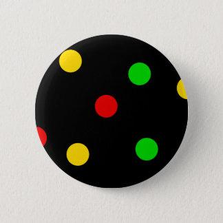 黒のラスタの水玉模様 缶バッジ