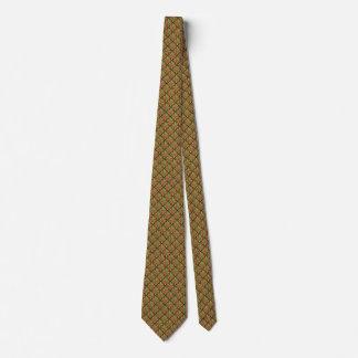 黒のレトロパターン ネクタイ