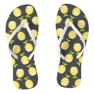 黒のレモン ビーチサンダル