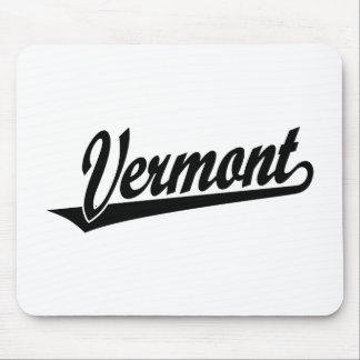 黒のヴァーモントの原稿のロゴ マウスパッド