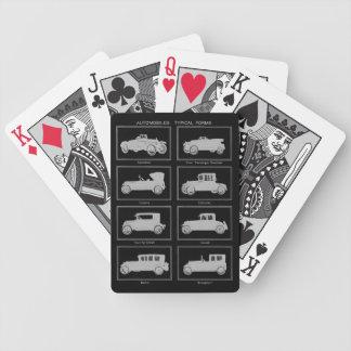 黒のヴィンテージの自動車カジノカード バイスクルトランプ