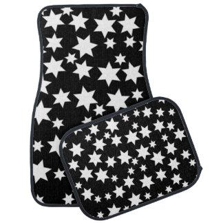 黒の任意白い星 カーマット
