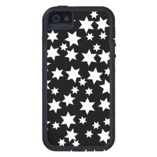 黒の任意白い星 iPhone SE/5/5s ケース