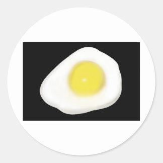 黒の卵焼き ラウンドシール