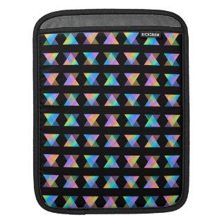 黒の多彩で幾何学的なパターン iPadスリーブ