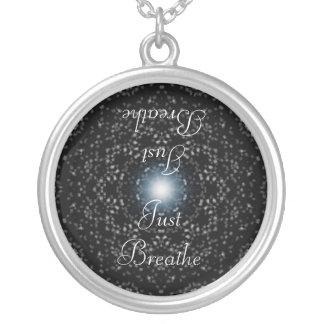 黒の天の星によっては、ちょうどネックレスが呼吸します シルバープレートネックレス