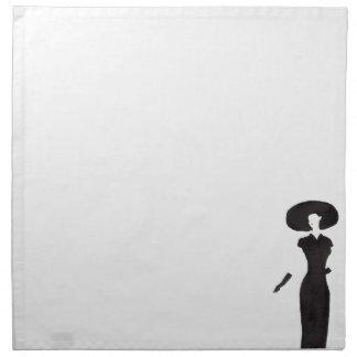 黒の女性 ナプキンクロス