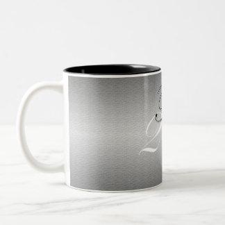 黒の恐れの結び目のマグ ツートーンマグカップ