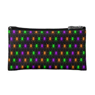 黒の明るいくもパターン コスメティックバッグ