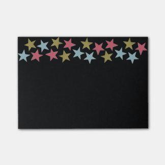 黒の星のノート ポストイット