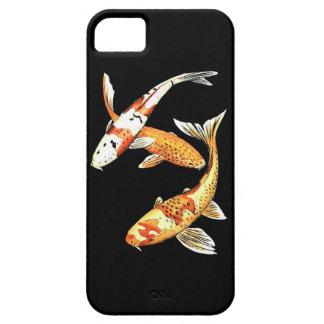 黒の東洋のコイの金魚 iPhone SE/5/5s ケース