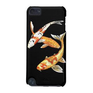 黒の東洋のコイの金魚 iPod TOUCH 5G ケース