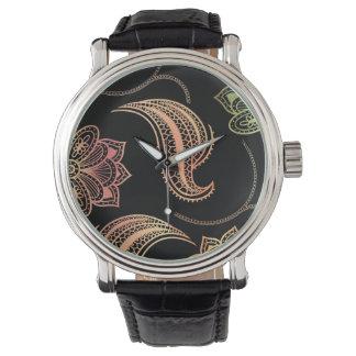 黒の東洋の形 腕時計