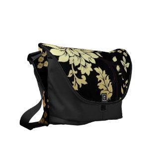 黒の東洋の金花 メッセンジャーバッグ