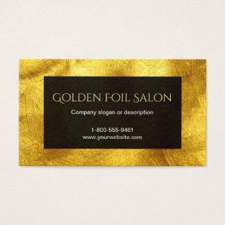 黒の模造のな金ホイルの一見 名刺