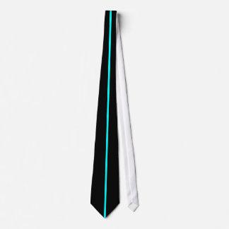 黒の水によって集中させる薄い垂直線 オリジナルネクタイ