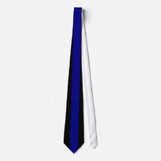 黒の濃紺の縦ストライプ カスタムネクタイ