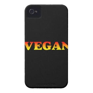 黒の炎のビーガン Case-Mate iPhone 4 ケース