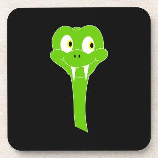 黒の生意気な緑ヘビの漫画 コースター