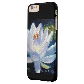 黒の白いユリ スキニー iPhone 6 PLUS ケース