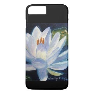 黒の白いユリ iPhone 7 PLUSケース