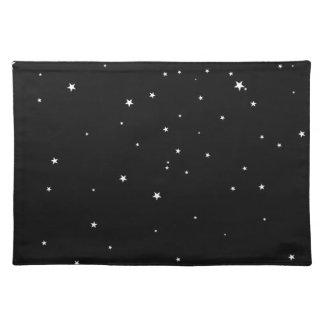 黒の白い星 ランチョンマット