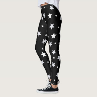 黒の白い星 レギンス