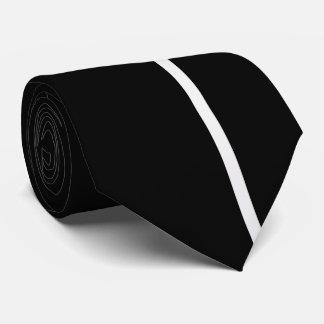 黒の白い煙の薄い垂直線 ネクタイ