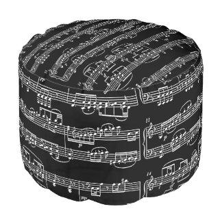 黒の白い音符 プーフ