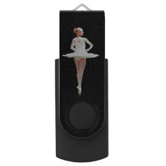 黒の白のバレリーナ USB メモリ