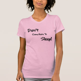 黒の睡眠の雄鹿無し Tシャツ