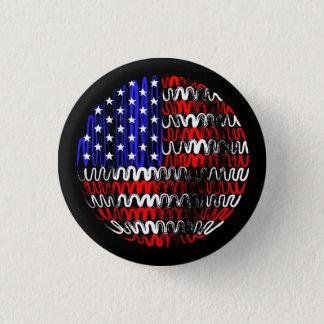 黒の米国 缶バッジ