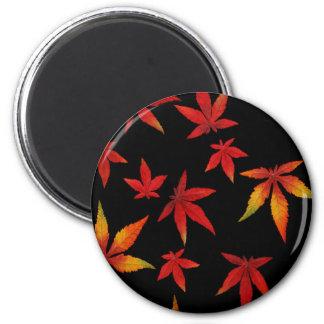 黒の紅葉 マグネット