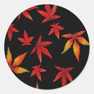 黒の紅葉 ラウンドシール