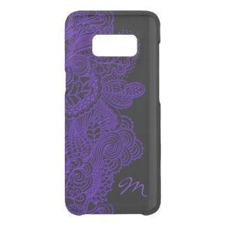黒の紫色のレースそしてモノグラム GET UNCOMMON SAMSUNG GALAXY S8ケース