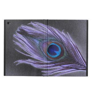 黒の紫色の孔雀の羽 POWIS iPad AIR 2 ケース