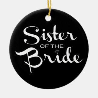 黒の花嫁の白の姉妹 セラミックオーナメント