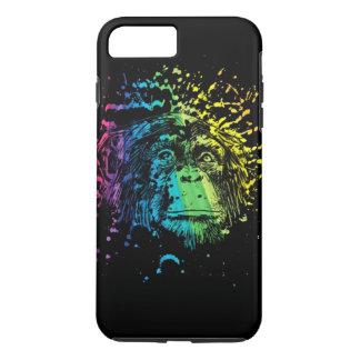 黒の虹のチンパンジー iPhone 8 PLUS/7 PLUSケース