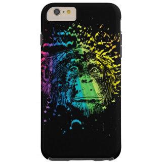 黒の虹のチンパンジー TOUGH iPhone 6 PLUS ケース