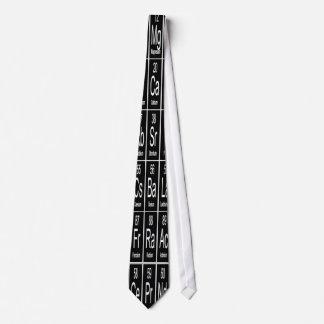 黒の要素の周期表 オリジナルネクタイ