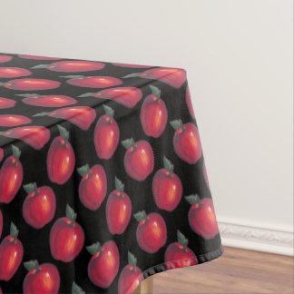 黒の赤いApple テーブルクロス