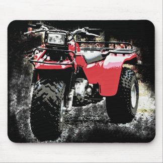 黒の赤いATC 3の荷車引きのオフロードオートバイ マウスパッド