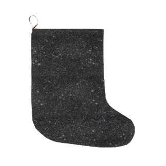 黒の輝き ラージクリスマスストッキング